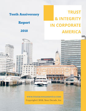10th Anniversay Report: Trust and Integrity in America